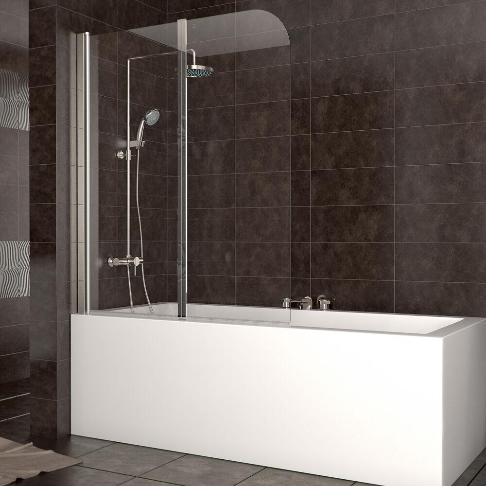 wow duschabtrennung badewanne duschwand faltwand glas badewannenfaltwand dusche eur 74 90. Black Bedroom Furniture Sets. Home Design Ideas