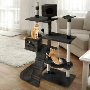 i.Pet 170cm Cat Scratching Post - Grey