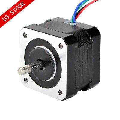 Dual Shaft Nema 17 Stepper Motor 37oz.in 0.4a 34mm 12v 4 Wires Cnc 3d Printer