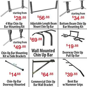 Adjustable Beam Wall Joist Mounted Doorway Chin up Pull up Bars Bar Mounting Kit Heavy
