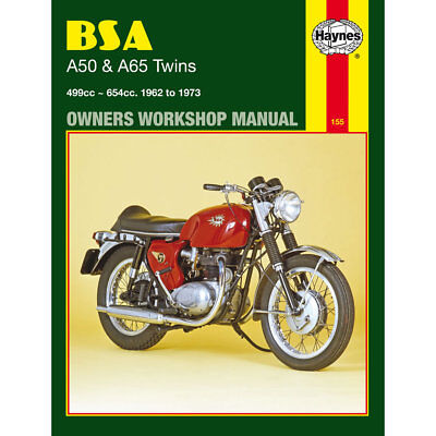 BSA A50 A65 Twins Haynes Manual 1962-73 Star Twin Cyclone Firebird Rocket Hornet