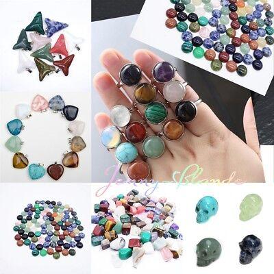 Wholesale Natural Heart Bell Stone Choker Chakra Reiki Pendant Crystal -
