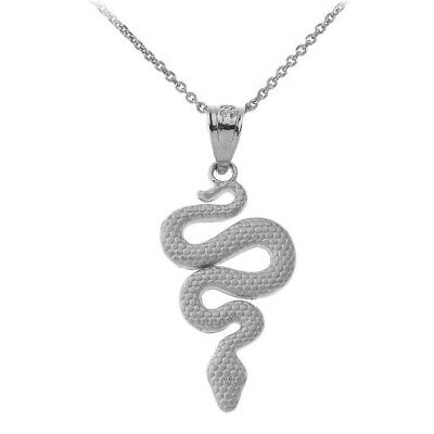 Sterling Silver Textured Snake-Serpent silhouette Pendant Necklace](Chandelier Silhouette)