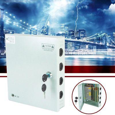 Power-box 18-port (18 Port 12V 10/15/30 Amp Lockable DC12V CCTV Box Power Supply Rain Proof Case UK)