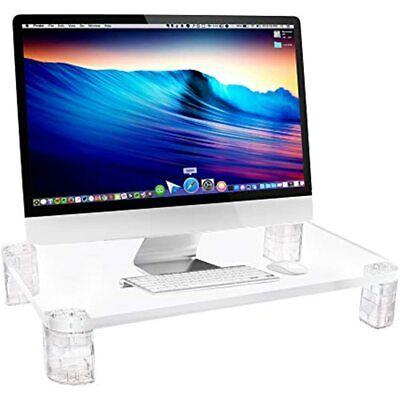 Acrylic Monitor Stand Riser - Computer Desk Shelf Organizer For Laptop Imac Up