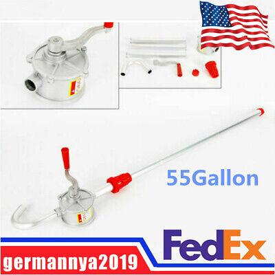 Heavy Duty Pump Diesel Fuel Oil Gas Tool Manual Hand Barrel Drum Rotary 55gallon