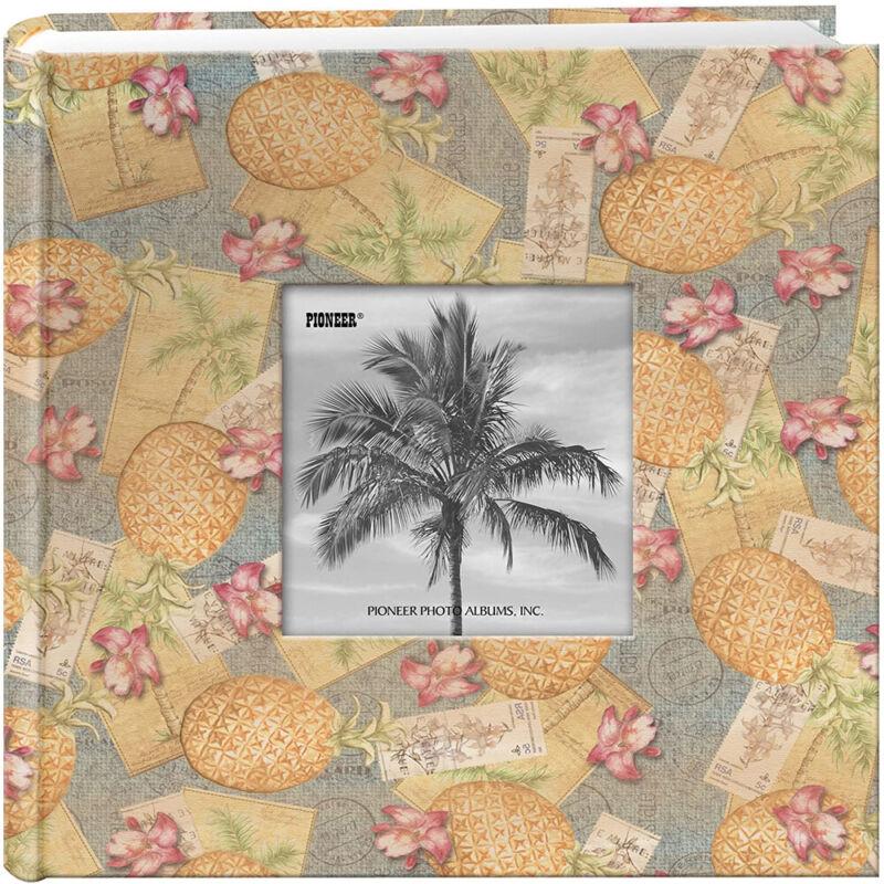 "Pioneer 4""X6"" 200 Pocket Tropical Frame Photo Album Palm Trees"