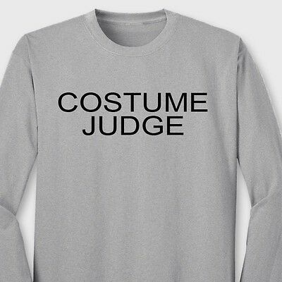 COSTUME JUDGE Party Beer College T-shirt Easy Halloween Costume Long Sleeve Tee - Halloween Costume College