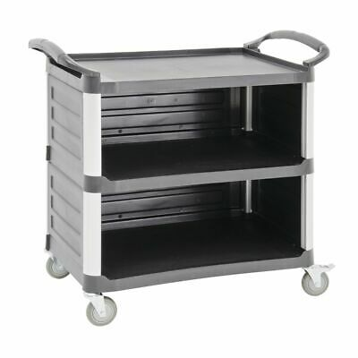 Hubert Service Cart With Open Front Black Plastic - 38 12 L X 20 78 W X 36 58