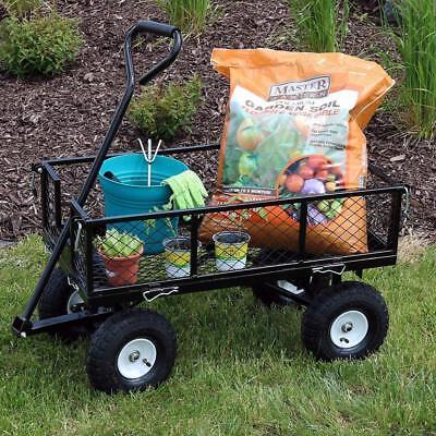 Garden Cart Heavy Duty Work Wagon Coach Waggon Gardening Carrier Handcart Dolly