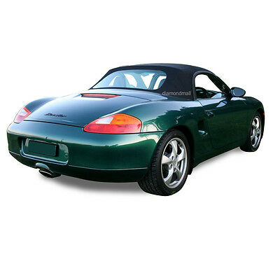 Porsche Boxster 986 Convertible Soft Top Replacement 1997-2002 Black Stayfast
