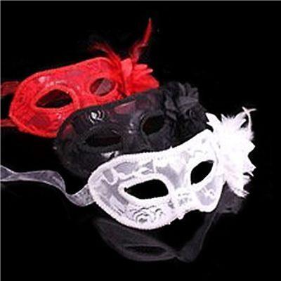 Neu Venezianische Feder-Spitze-Blumen-Augen-Masken-Kostümball-Kostüm-Abendkleid