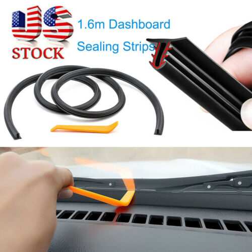 1.6m Car Push Seal Strip Rubber Dashboard Windshield Gap Engine Noise Insulation Car & Truck Parts
