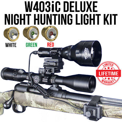 Wicked Lights W403iC Deluxe Night Hunting Light Kit for Coyotes & Hogs - Nite Light Hunting Lights