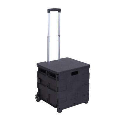 Heavy Duty Folding Shopping Cart Laundry Rolling Utility Trolley Carrier Basket