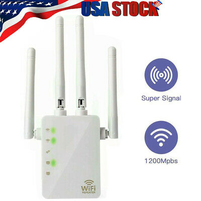 AC1200 WiFi Repeater Wireless Extender Router Dual Booster Band Gigabit USA