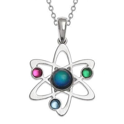 Attractive Mood Colour Change Atom Design Pendant on 18