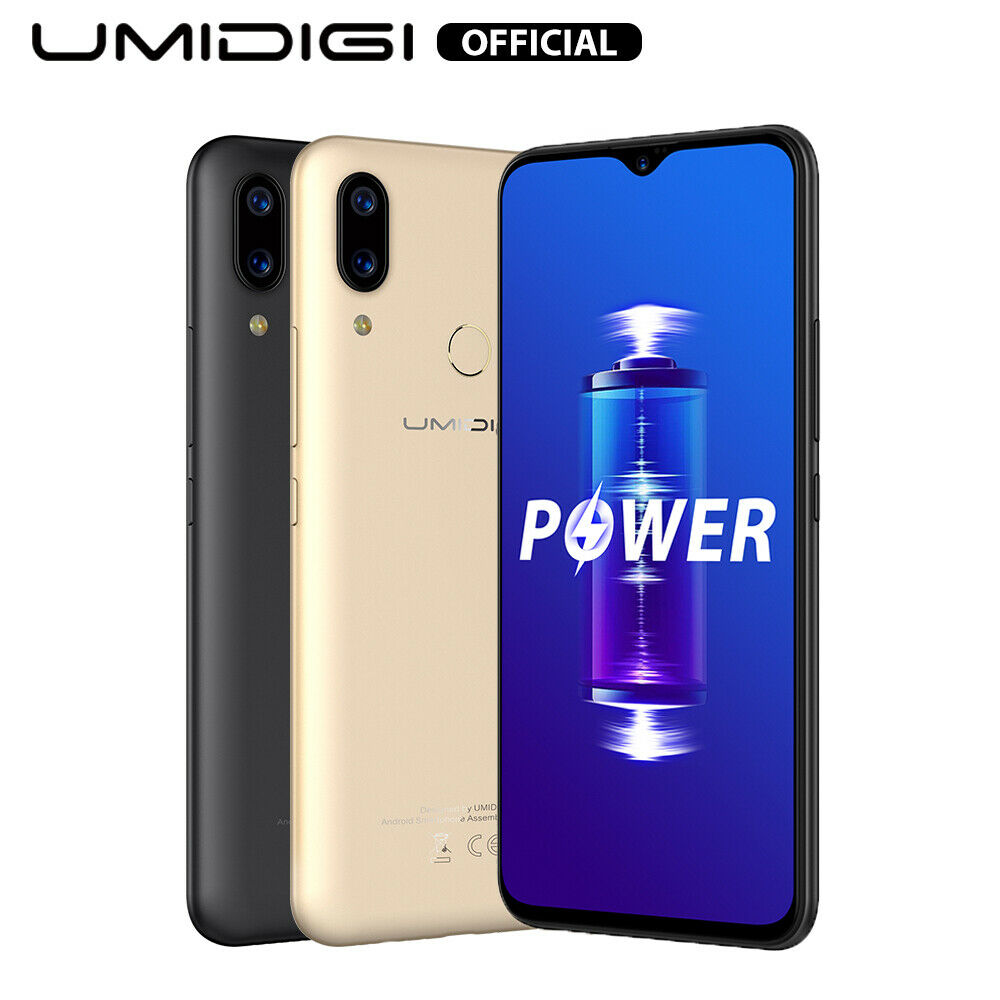 Android Phone - UMIDIGI Power Android 9.0 Pie Waterdrop Smartphone 4GB 64GB Unlocked 5150mAh