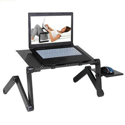 Foldable Adjustable Laptop Desk Table Stand Bed Tray Notebook Portable Folding