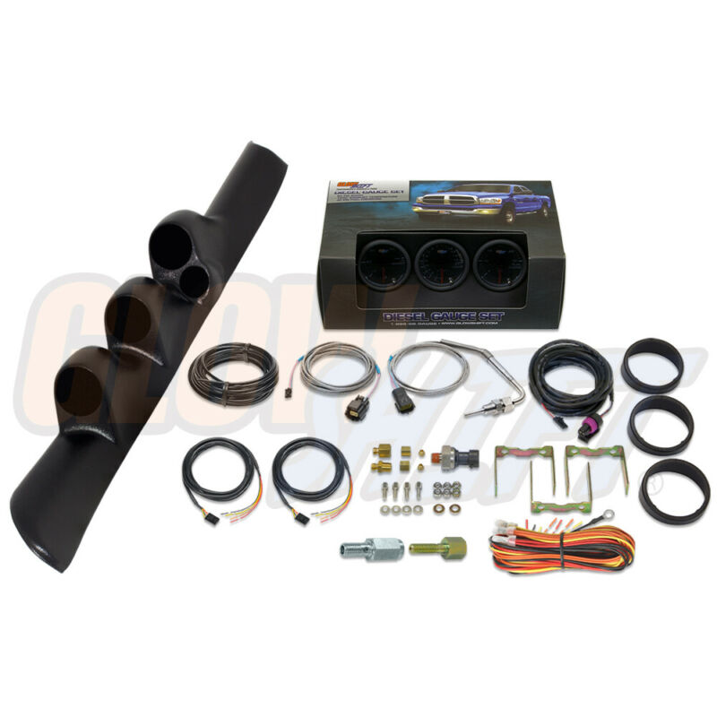 GlowShift Package - T7 Gauge Set & Pillar Pod w Spk for 98-02 Dodge Ram Cummins