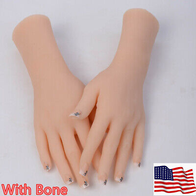 1pcs Female Hand Stay Bent Mannequin Display Jewelry Model Props With Bone