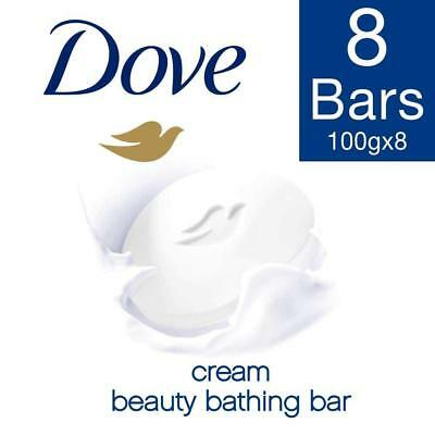BEST QUALITY Dove Cream Beauty Bathing Bar, 100g (Pack of 8) free
