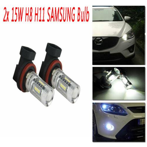 2x 9006 HB4 SAMSUNG 15W LED Sidelight Fog Light Daytime Running Light Lamp White