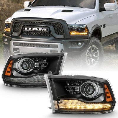 [Factory Style] 2013-2018 Dodge Ram 1500 2500 3500 LED DRL Projector Headlights