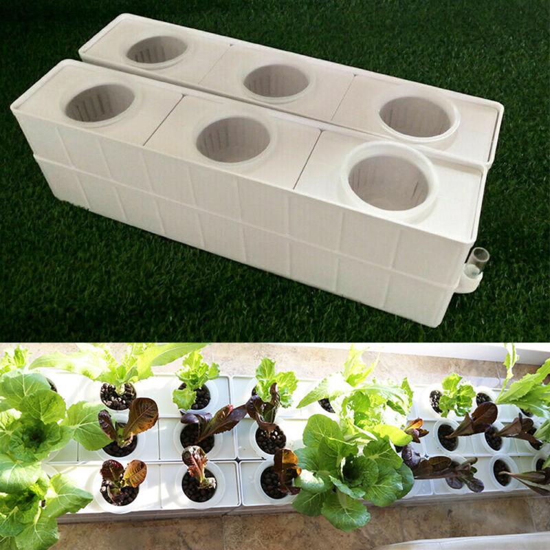 6 Plant Hydroponic Site Grow Kit Square Shape110V Pump Baskets Grow System