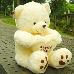 I LOVE YOU U Giant Large Big Teddy Bear Plush Gift Girlfriend Valentines  Heart