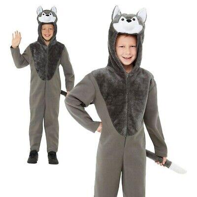 Kinder Wolf Kostüm Tier Grosse Schlechte Buch Woche Tag Jungen - Schlechte Kinder Kostüm