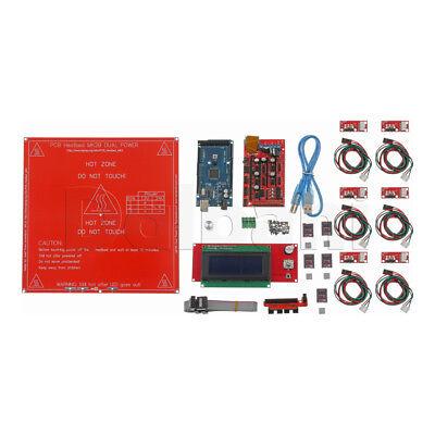 Ramps 1.4 A4988 Mega2560 R3 Lcd 12864 Kit For Arduino Reprap 3d Printer Us