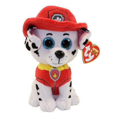 "TY Beanie Baby 6"" Paw Patrol MARSHALL Dalmation Plush Stuffed Animal Toy MWMT's"