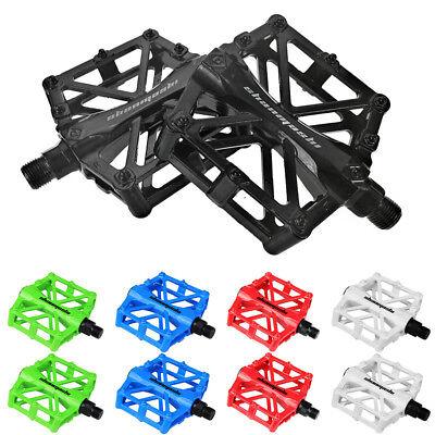Mountain Bike MTB BMX Bicycle Cycling Alloy Flat Platform Bearing Pedals 9/16 (Best Mountain Bike Platform Pedals)
