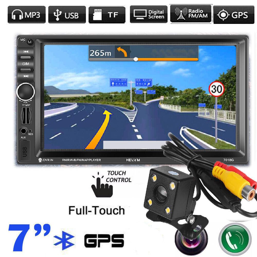 """7"""" AUTORADIO MIT NAVIGATION NAVI GPS BLUETOOTH RÜCKFAHRKAMERA USB SD MP3 2DIN"""