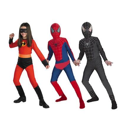 Superhero Costume Set (Kids Boy Girl Superhero Carnival Fancy Party Dress Costume Cosplay Clothes)