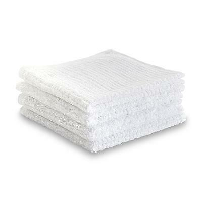 60 Pieces-white-100 Cotton Ribbed Terry Bar Mop Towels-16x19 Inches-32oz