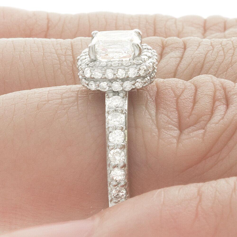 Natural GIA Certified 1.78 carat Cushion Cut Diamond Engagement Ring 14k Gold 3