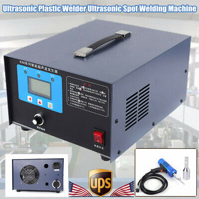 Usa Portable Plastic Spot Welder Ultrasonic Welding Machine 1.2kw Car Pp Pe 110v
