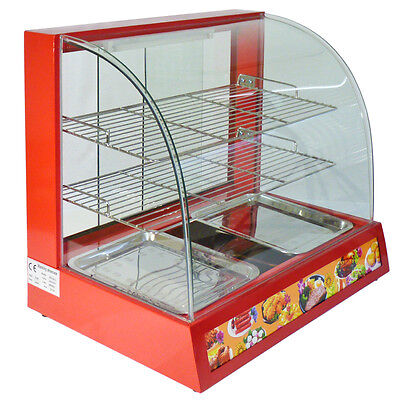 Hot Food Warmer Display Cabinet Counter Electric Pie Pasty Sausage Rolls 66cm