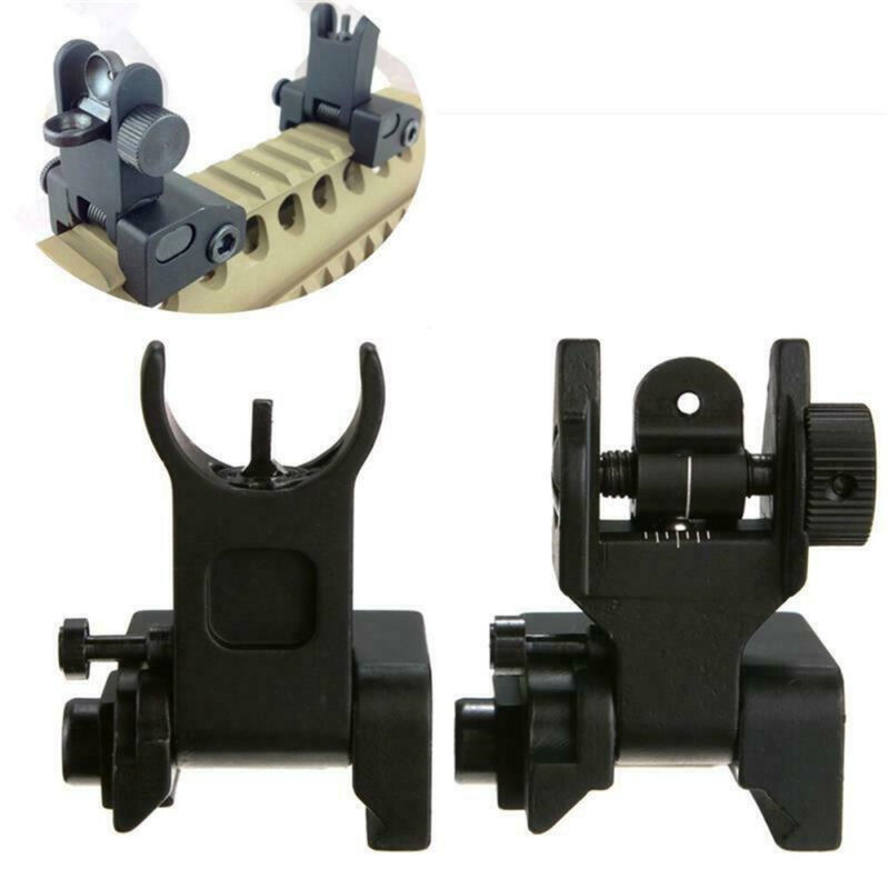 Flip Up QD Low Profile Mil Spec Iron Sights Front Rear Sight Mounts Picatinny