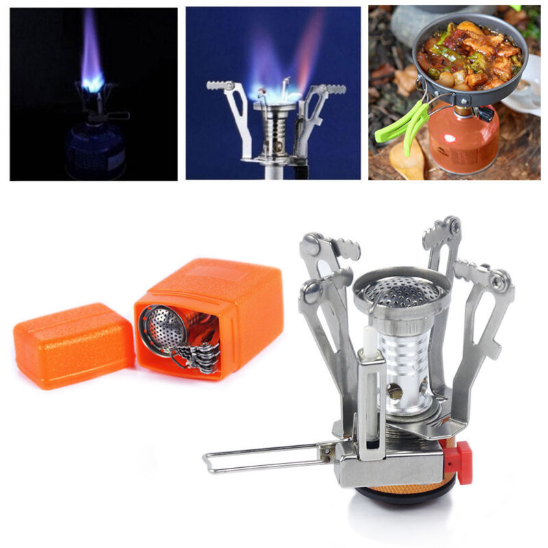 Outdoor Camp Stove Burner Ultralight Backpacking Gas Butane Propane Canister