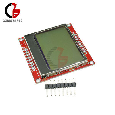 84x48 Lcd Module White Backlight Adapter Pcb For Nokia 5110
