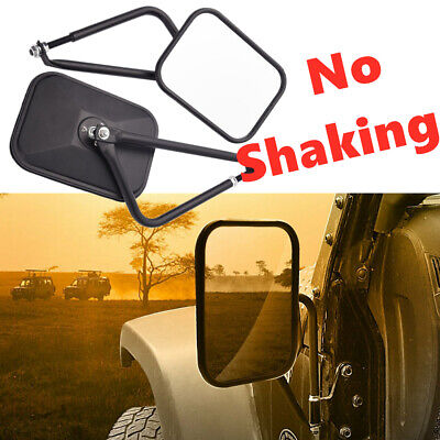 Side View Door Mirrors Set Rear View Left Right For 07-17 Jeep Wrangler JK CJ -
