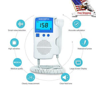 Prenatal Fetal Doppler Babys Heartbeat Monitor Ultrasonic Detector 3.0mhz Probe