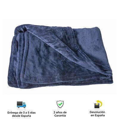 Manta Eléctrica Extra grande Smart 160×120 cm, 6 niveles de calor, Indicador...