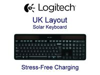 Wireless Solar Logitech Keyboard K750