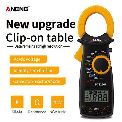 Aneng Dt3266f Electrical Digital Clamp On Multimeter Dc Volt Meter Ac Amp Tester