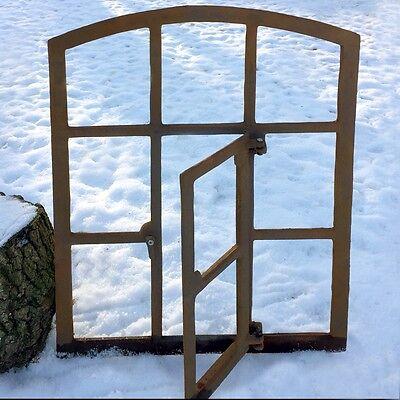 Stall Fenster Antik mit Klappe, Stallfenster zum Öffnen - Eisen Fenster Garage