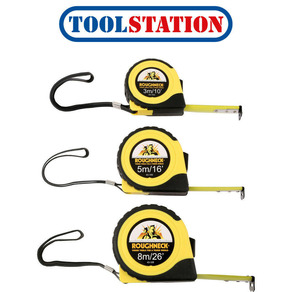 Three 3m Auto Locking Tape Measure Metric /& Imperial Pocket Fit Set S46